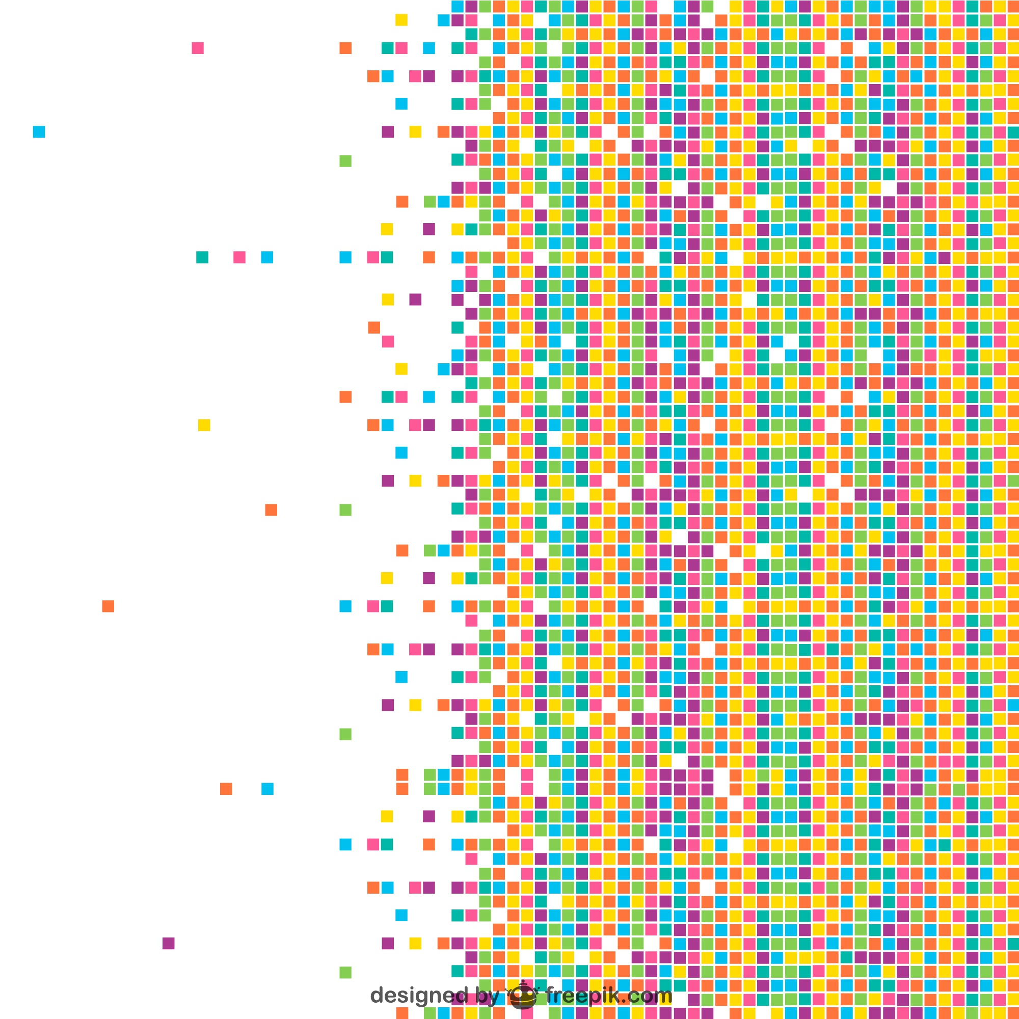 Colorful mosaic vector