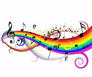 colorful music background vector illustration