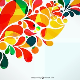 Colorful ornamental abstract design