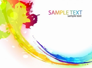 colorful paint ink splashes vector background