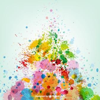 Colorful paint splashes