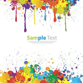 colorful paint splat vector