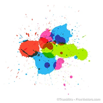 Colorful painting splashes vector