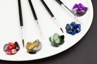 colorful palette pebbles