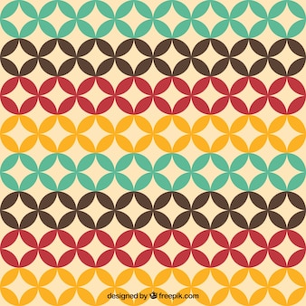 Colorful pattern in retro style