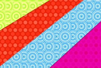 Colorful patterns with circles