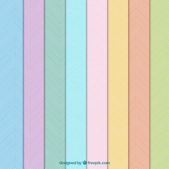 Colorful patterns with stripes