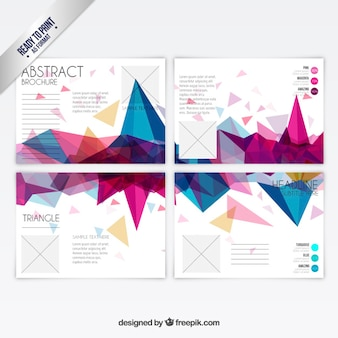 Colorful polygons brochure