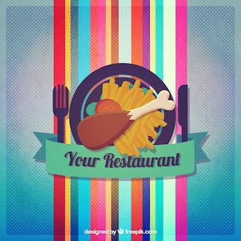 Colorful restaurant logo