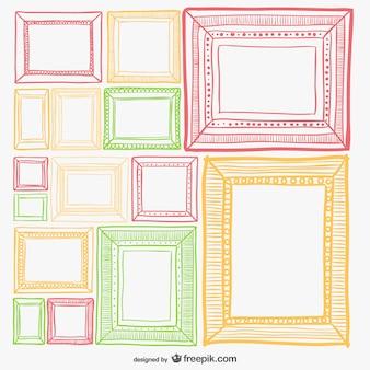 Colorful retro frames set