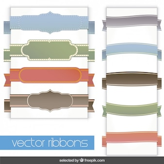 Colorful ribbons collection