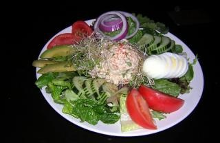 Colorful salads, cucumber