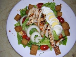 Colorful salads, restaurantfood