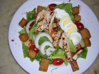 Colorful salads, restaurantfood