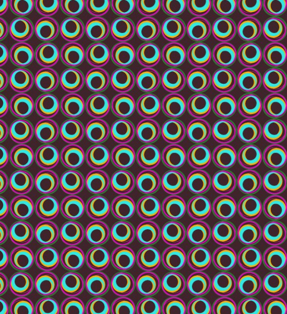 Colorful seamless patterns with circles