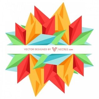 Colorful shapes graphic in modern design