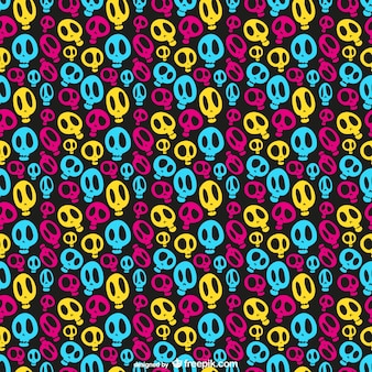 Colorful skulls pattern