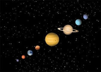 Colorful solar system planets vector