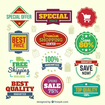 Colorful special offer banners