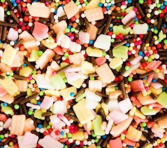 Colorful sprinkles for cake decoration or ice cream topping