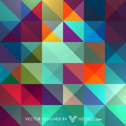 Colorful squares abstract pattern background