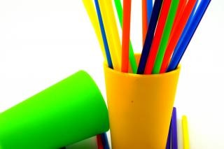 Colorful straws, colors, cut