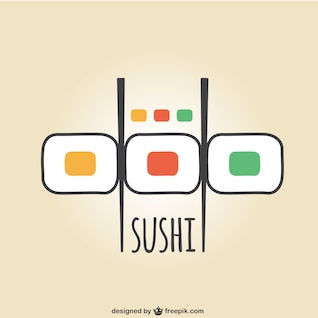 Colorful suchi vector