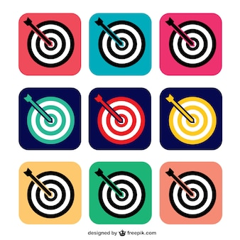 Colorful target icons