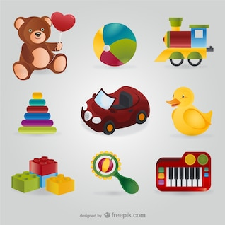 Colorful toys pack