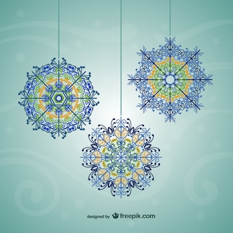 Colorful vector snowflakes
