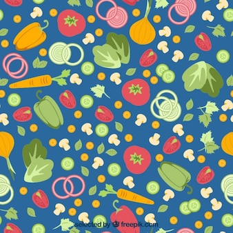Colorful vegetables pattern