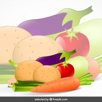 Colorful vegetables set