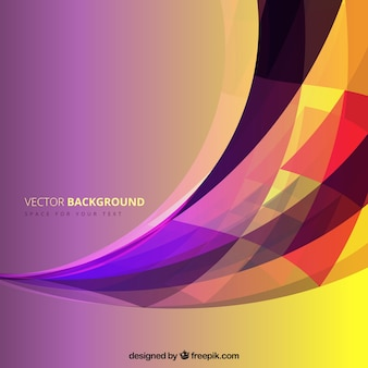 Colorful wave background in abstract style