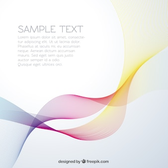 Colorful waves in abstract style background