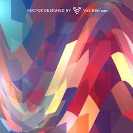 Colorful wavy seamless pattern background
