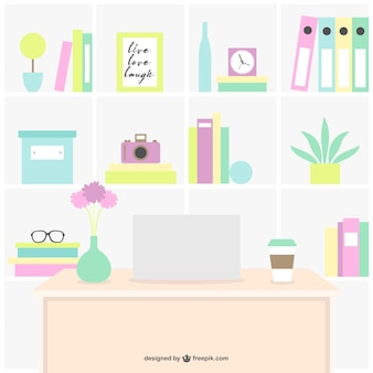 Colorful workplace