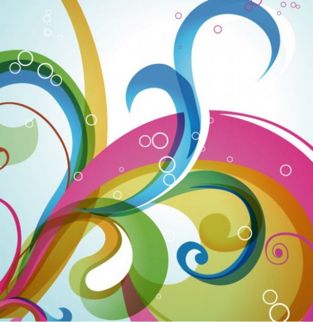 Colors swirl tentacles abstract background