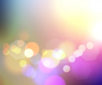 Coloured abstract with bokeh effect background