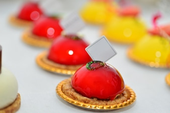 Coloured desserts