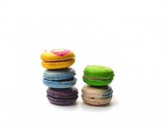 Coloured macarons view