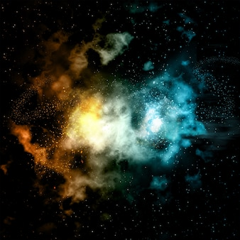 Coloured nebula background