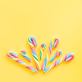 Colourful candy sticks