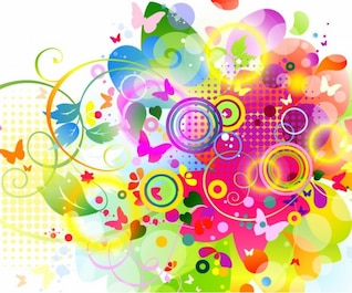 Colourfull vector graphic elements