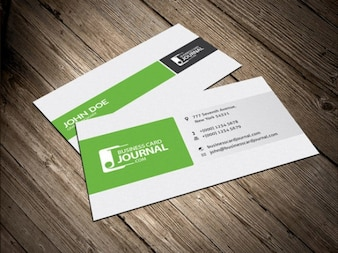 Column layout business card design