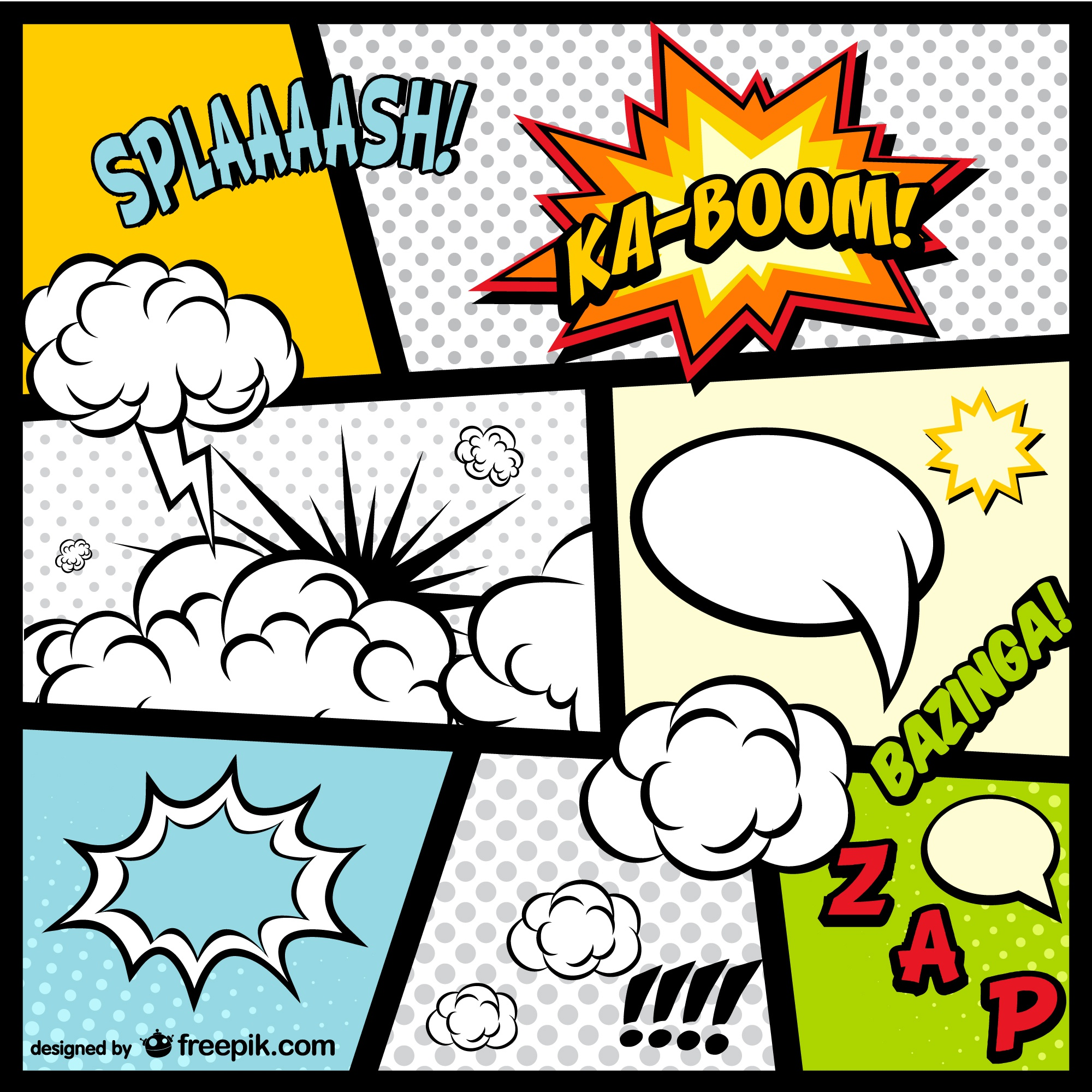 Comic Book page elements free download
