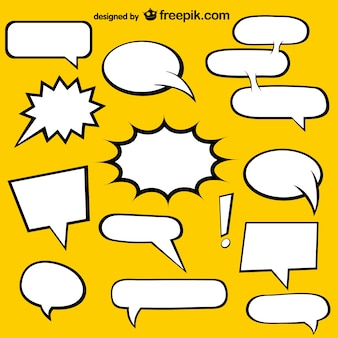 Comic Book speech bubbles free elements