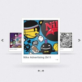 Comic image sliders PSD