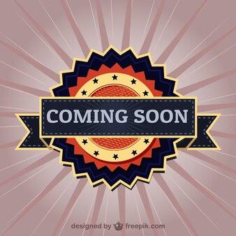 Coming soon elegant label