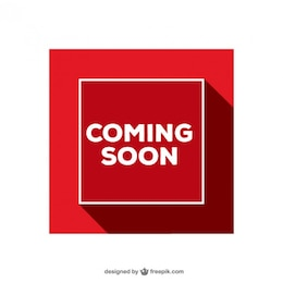 Coming Soon red sign