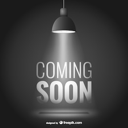Coming soon vector with spotlight